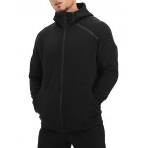Drop Shoulder Zip Up Hoodie -