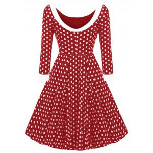 Bowknot Polka Dot Vintage Dress -