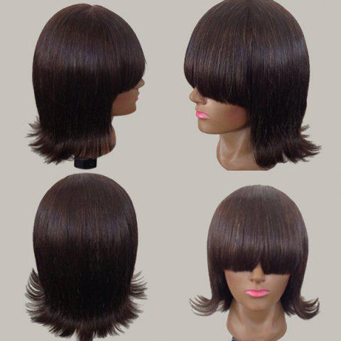 Discount Short Full Bang Straight Anti-alice Synthetic Wig