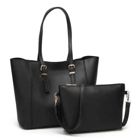 Outfits 2 Pieces Shoulder Bag - BLACK  Mobile