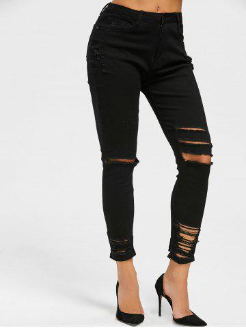 Outfits Skinny Distressed Jeans - 2XL BLACK Mobile