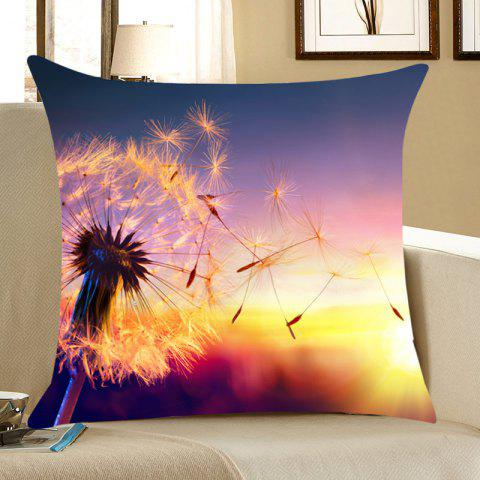 Buy Sunset Dandelion Home Decor Throw Pillow Case COLORFUL W18 INCH * L18 INCH