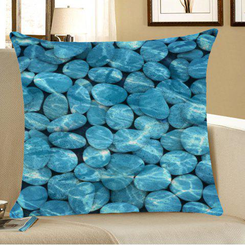 Hot Home Decorative Cobblestones Printed Throw Pillow Case BLUE W18 INCH * L18 INCH