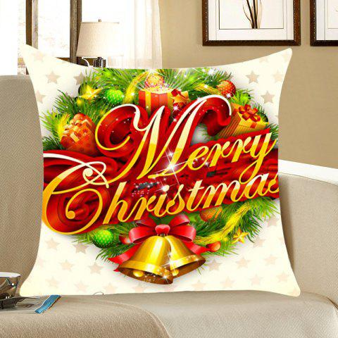Fashion Christmas Small Bells Gifts Printed Throw Pillow Case COLORFUL W18 INCH * L18 INCH