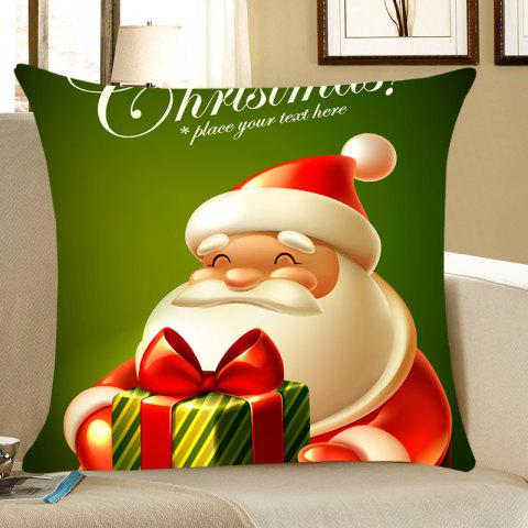 Unique Home Decor Santa Claus Patterned Throw Pillow Case - W18 INCH * L18 INCH DEEP GREEN Mobile