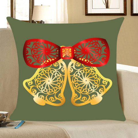 Trendy Hollow Cut Bells Pattern Throw Pillow Case - W18 INCH * L18 INCH ARMY GREEN Mobile