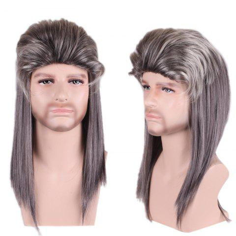 Affordable Long Colormix Fluffy Layered Straight Cosplay Party Synthetic Man Wig - COLORMIX  Mobile