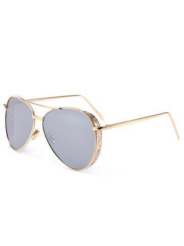 Buy Vintage Metal Frame Carved Pilot Sunglasses