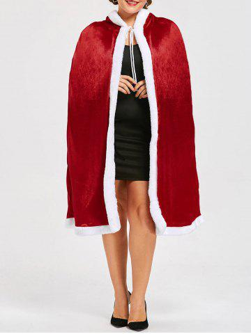 Cape Santa Claus Christmas Plus Size Rouge 4XL