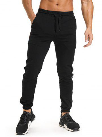 Cheap Color Block Side Edging Design Jogger Pants - L BLACK Mobile