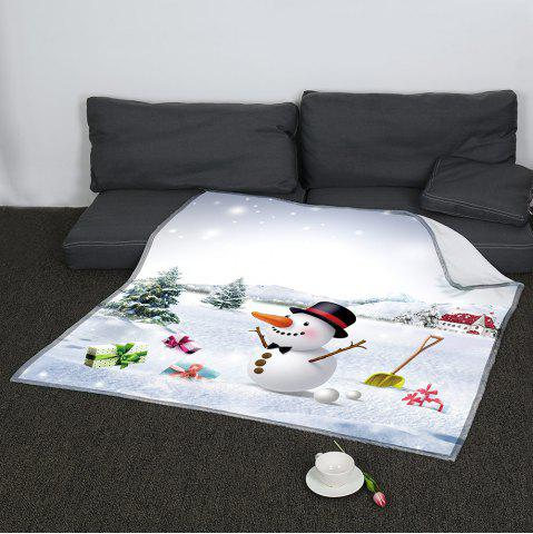 Fancy Christmas Snowman Printed Keep Warm Blanket - W59INCH*L70INCH COLORFUL Mobile