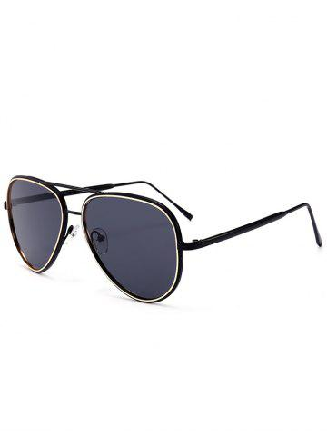 Shop Vintage Golden Metal Frame Crossbar Sunglasses