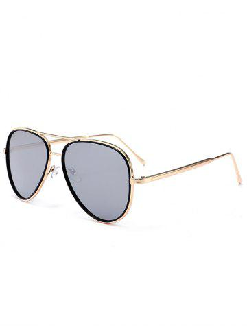 Shops Vintage Golden Metal Frame Crossbar Sunglasses SILVER