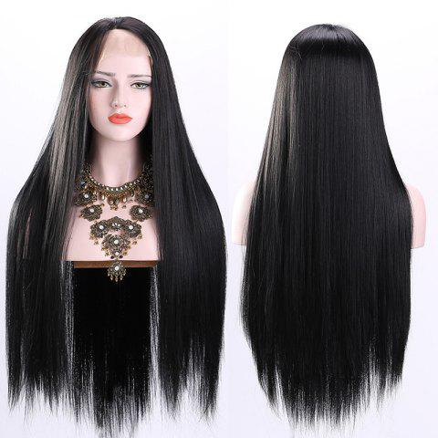 Online Ultra Long Free Part Straight Synthetic Lace Front Wig