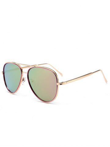 Outfit Vintage Golden Metal Frame Crossbar Sunglasses PINKISH PURPLE