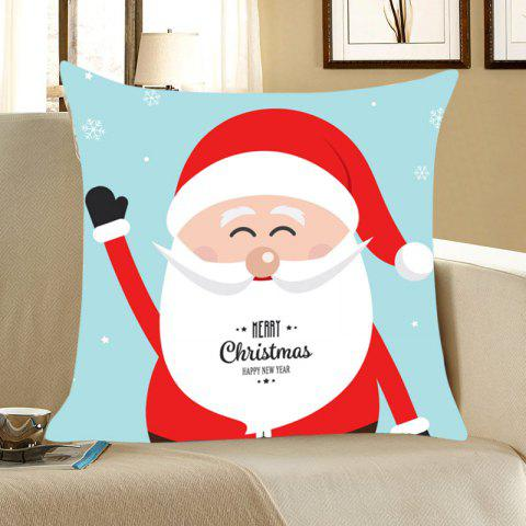 Sale Smiling Santa Claus Printed Throw Pillow Case