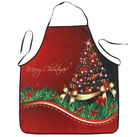 Store Christmas Star Tree Print Waterproof Kitchen Apron