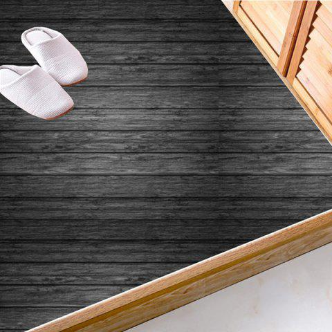 Chic Antislip Floor Decals Wood Grain Wall Stickers Set CHARCOAL GRAY 6*6 INCH