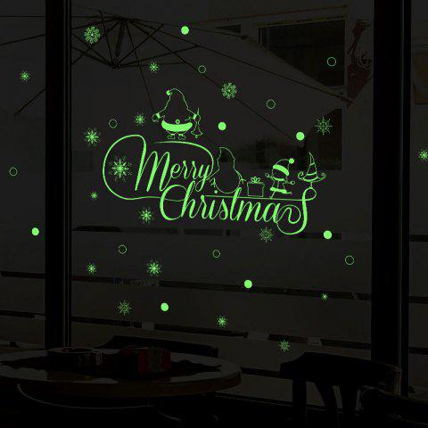 Outfits Merry Christmas Pattern Glow In The Dark Wall Art Stickers
