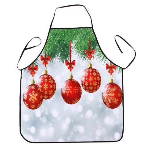 Unique Christmas Baubles Print Waterproof Kitchen Apron
