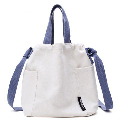 Cheap Convertible Canvas Pockets Drawstring Bag