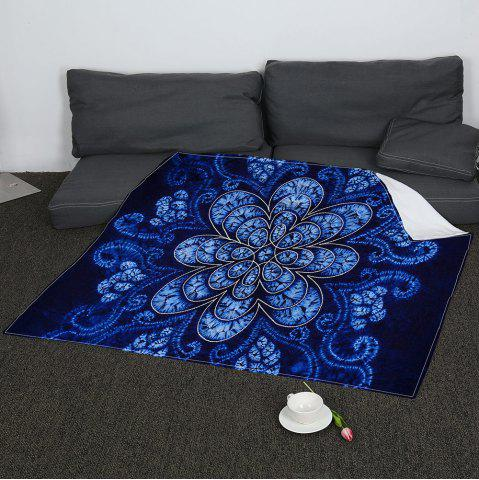 Shops Coral Fleece Flower Pattern Blanket