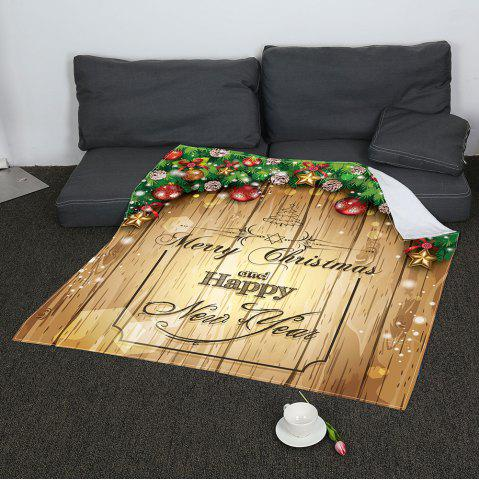Cheap Merry Christmas Printed Soft Coral Fleece Blanket