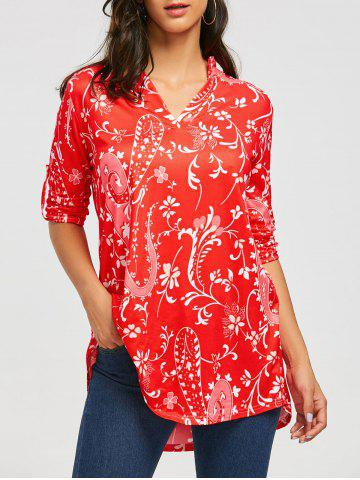 Shops Bohemian Print V-neck Blouse