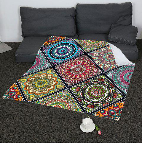 Latest Bohemia Geometry Pattern Soft Coral Fleece Blanket - W31 INCH*L59 INCH COLORFUL Mobile