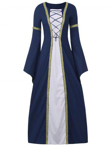 Unique Bell Sleeve Long Queen Costume Dress