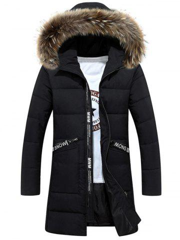 Latest Faux Fur Hood Zip Up Quilted Coat