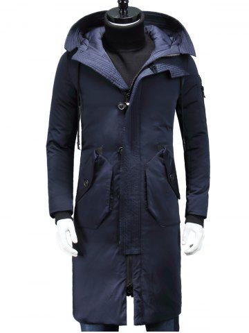 Fancy Hooded Longline Padded Cargo Coat