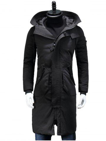 Cheap Hooded Longline Padded Cargo Coat