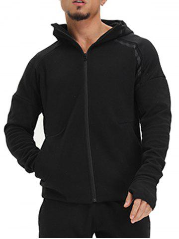 Hot Drop Shoulder Zip Up Hoodie