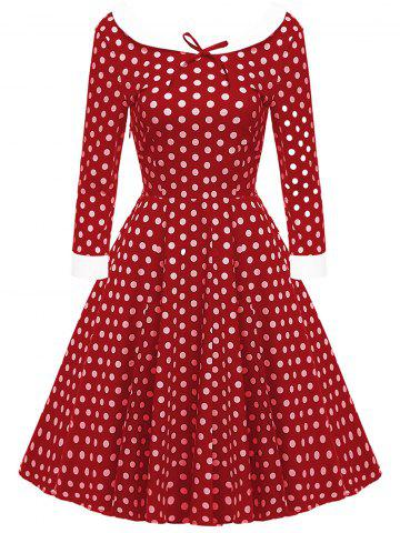 Bowknot Polka Dot Vintage Dress