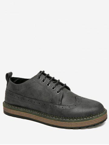 New Faux Leather Wingtip Casual Shoes