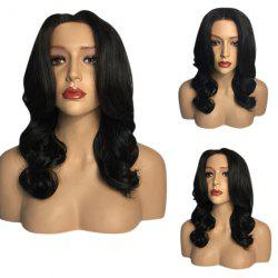 Middle Part Long Wavy Heat Resistant Synthetic Wig -