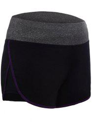 Running Drawstring Waist Dolphin Shorts - PURPLE M