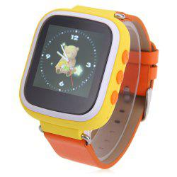 Children GPS Smartwatch with SOS GPRS Real-time Position Alarm Talkback Phone - YELLOW