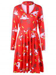 Ugly Christmas Cut Out Elk Dress -