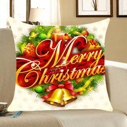 Christmas Small Bells Gifts Printed Throw Pillow Case - COLORFUL W18 INCH * L18 INCH