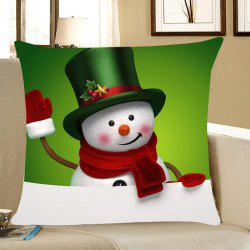 Christmas Snowman Pattern Throw Pillow Case - Green - W18 Inch * L18 Inch