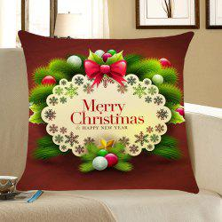 Christmas Small Balls Patterned Throw Pillow Case -