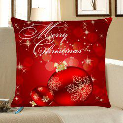 Home Decorative Christmas Balls Printed Throw Pillow Case -