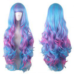Long Full Bang Fluffy Wavy Colormix Cosplay Lolita Synthetic Wig -