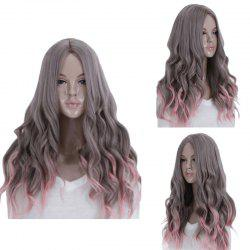 Long Middle Part Wavy Synthetic Ombre Cosplay Wig -