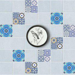 Geometric Floral Nonslip Floor Decals European Wall Tile Stickers Set -