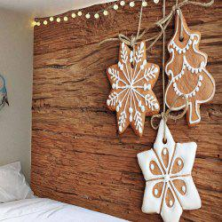 Waterproof Christmas Snowflake Printed Wall Tapestry - Wood - W91 Inch * L71 Inch