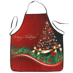 Christmas Star Tree Print Waterproof Kitchen Apron -