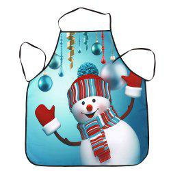 Christmas Snowman Balls Print Waterproof Kitchen Apron